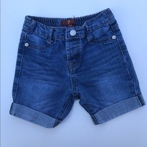 7 For All Mankind Toddler Boy Jean Shorts